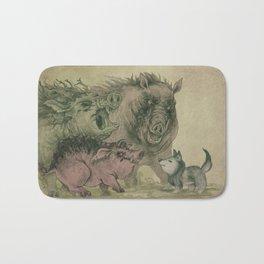 Wolf versus three Bath Mat