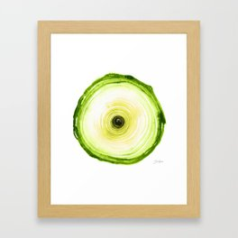 Tree Ring - Chartreuse Framed Art Print