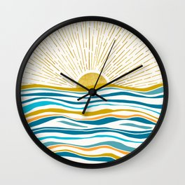 Sunrise At Sea Wall Clock