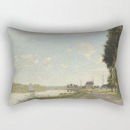 Claude Monet Argenteuil c. 1872 Painting Rectangular Pillow