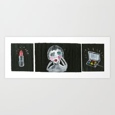 too much makeup is scary Art Print