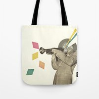 death note Tote Bags featuring Blue Note by Cassia Beck