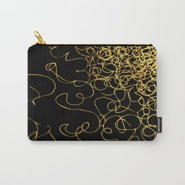 swirly gold gradient Carry-All Pouch