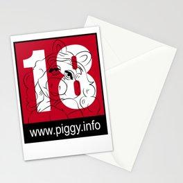 Piggy 18 Stationery Cards