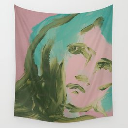Looking At You, in Pink Wall Tapestry
