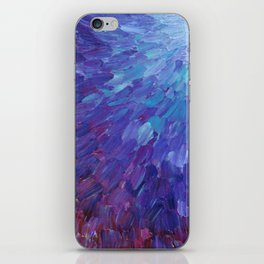 SCALES OF A DIFFERENT COLOR - Abstract Acrylic Painting Eggplant Sea Scales Ocean Waves Colorful iPhone Skin