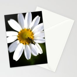Green bug in daisy Stationery Cards