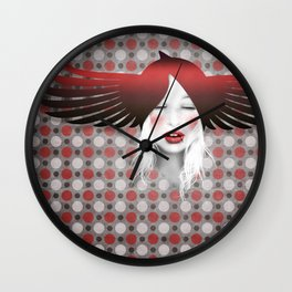MonGhostX - Close, Fly. Dreams... of a free world ! Peace. Wall Clock