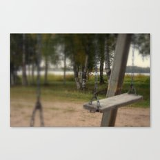 Lonely Swing Canvas Print