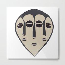 African Tribal Mask No. 5 Metal Print