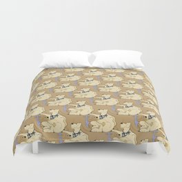 Mmmm Cookies, a dog tessellation Duvet Cover