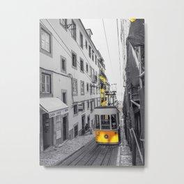 Lisbon Yellow Elevator Tram Metal Print