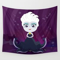 ursula Wall Tapestries featuring Ursula  by Loud & Quiet