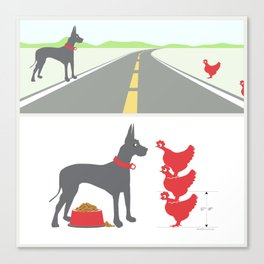 dane and chickens Canvas Print
