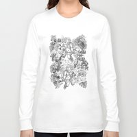 angels Long Sleeve T-shirts featuring ANGELS by TOO MANY GRAPHIX
