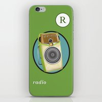 transistor iPhone & iPod Skins featuring Transistor Radio Flash Card by paper moon projects