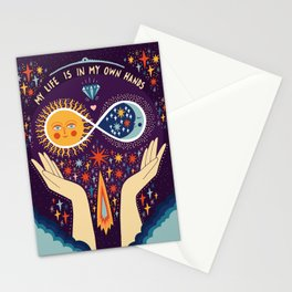 My life is in my own hands Stationery Cards