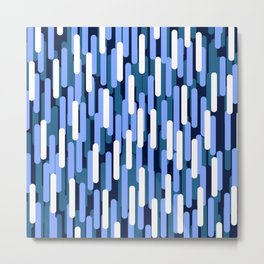 Fast Capsules Vertical Blue Metal Print