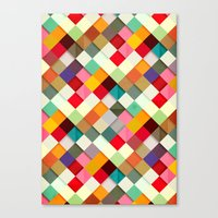 pattern Canvas Prints featuring Pass this On by Danny Ivan