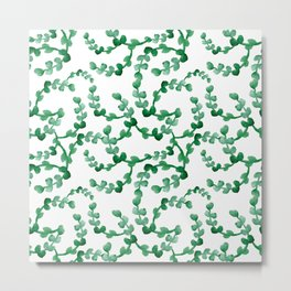 Lovely watercolour leaves pattern - beautiful greenery Metal Print
