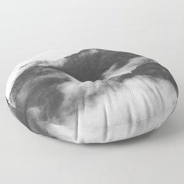 Foggy Mountain Floor Pillow