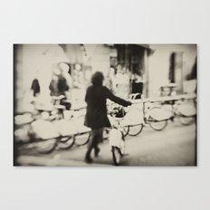 Barcelona Bicing Canvas Print