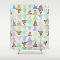 girly Shower Curtains featuring Girly Things by Zeke Tucker