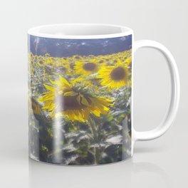 Butterfly and Sunflowers Coffee Mug