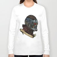star lord Long Sleeve T-shirts featuring Star Lord Legendary Outlaw by Victoria Jennings