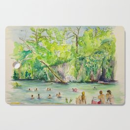 Krause Springs - historic Texas natural springs swimming hole Cutting Board