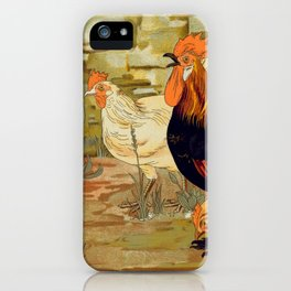 Roosters and hens iPhone Case