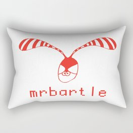 Mr Bartle ***** Rabbit Logo Rectangular Pillow