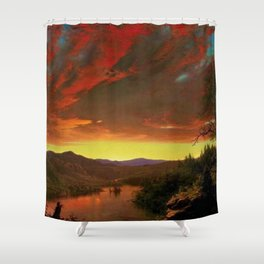 Twilight in the Wilderness by Frederic Edwin Church Shower Curtain