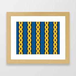Gold Chain Curtain Framed Art Print