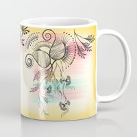 decorative Mugs featuring Decorative Floral by famenxt