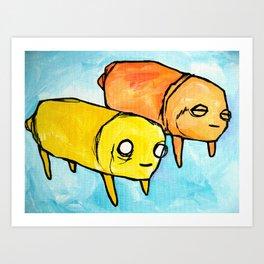 pups Art Print
