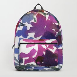 Dark Pinks and Blues Backpack