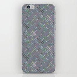 Gray checkered pattern. iPhone Skin