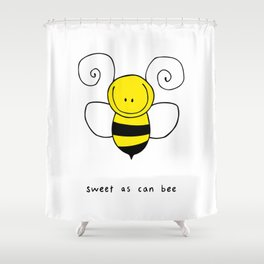 Sweet As Can Bee Shower Curtain
