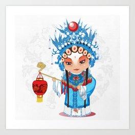 Beijing Opera Character GongNv Art Print