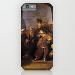 Rembrandt - Judas Repentant, Returning the Pieces of Silver iPhone Case