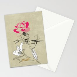 The rose and the lily Stationery Cards