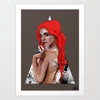 Kraken Girl Art Print