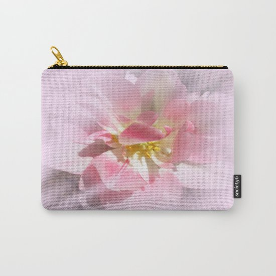 Fancy Pink Tulip Abstract Carry-All Pouch