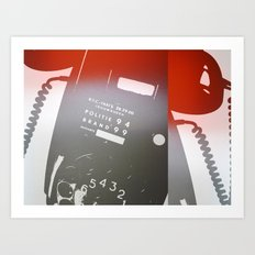 Old Phone Abstract Art Print