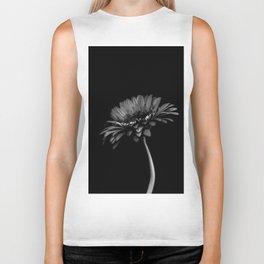 Daisy gerbera. Black and white Biker Tank