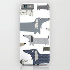 Wiener Dog Pattern iPhone 6s Slim Case