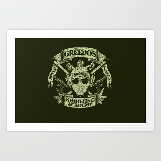 Greedo's Shooting Academy - Star Wars Art Print
