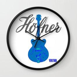 Verithin Blue #1 Wall Clock