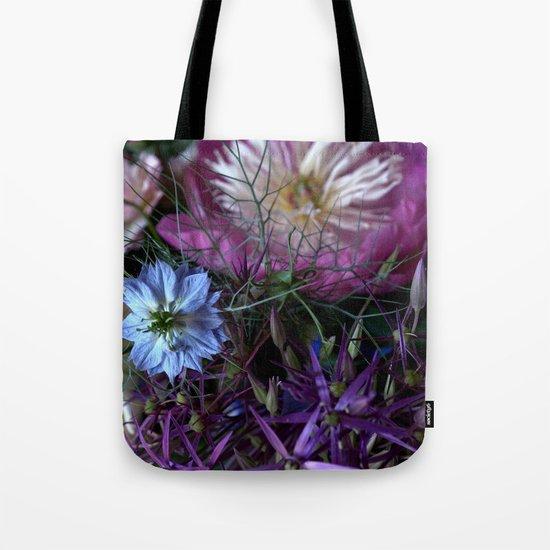 Purple Love Clusters Tote Bag